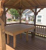 Table built for Haynie-Sirrine neighborhood gazebo