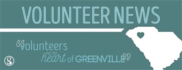Volunteer News banner image: Volunteers are the heart of Greenville