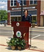 City Council Member, Amy Doyle, accepts EPA Brownfields grant at ceremony held in Clinton, S.C.