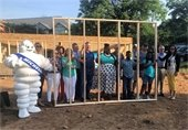 Habitat for Humanity of Greenville County celebrate another home built with a wall raising ceremony.